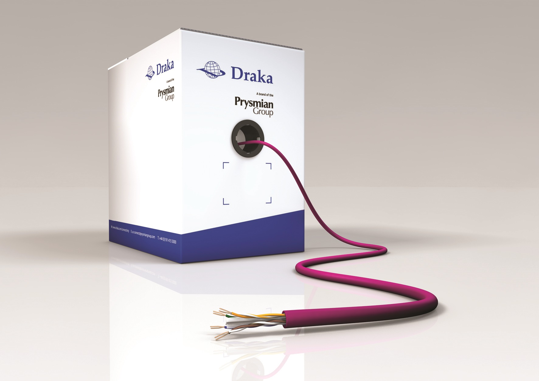 Draka Innovation Delivers High Performance Cat6 Data Cable With Wiring Cat 6 Slim Profile